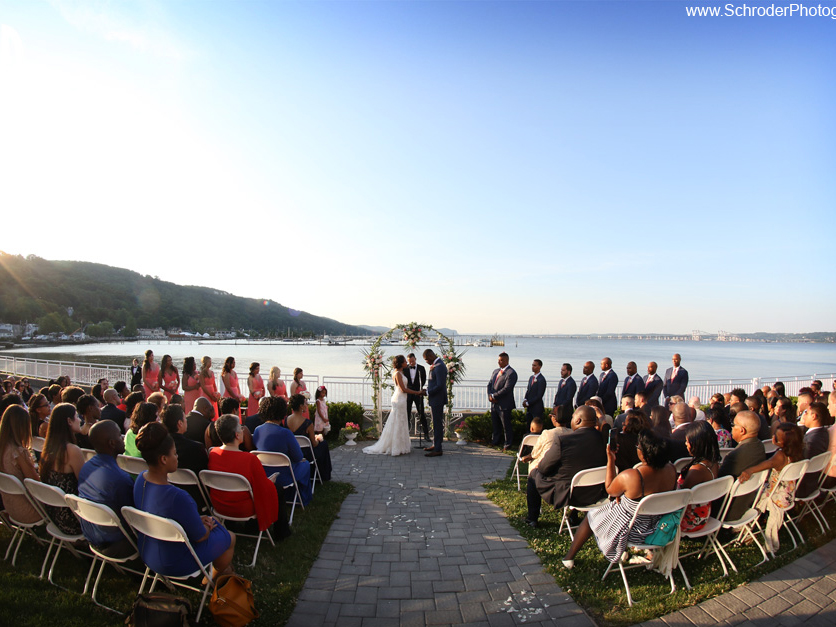 View on the Hudson Piermont Wedding