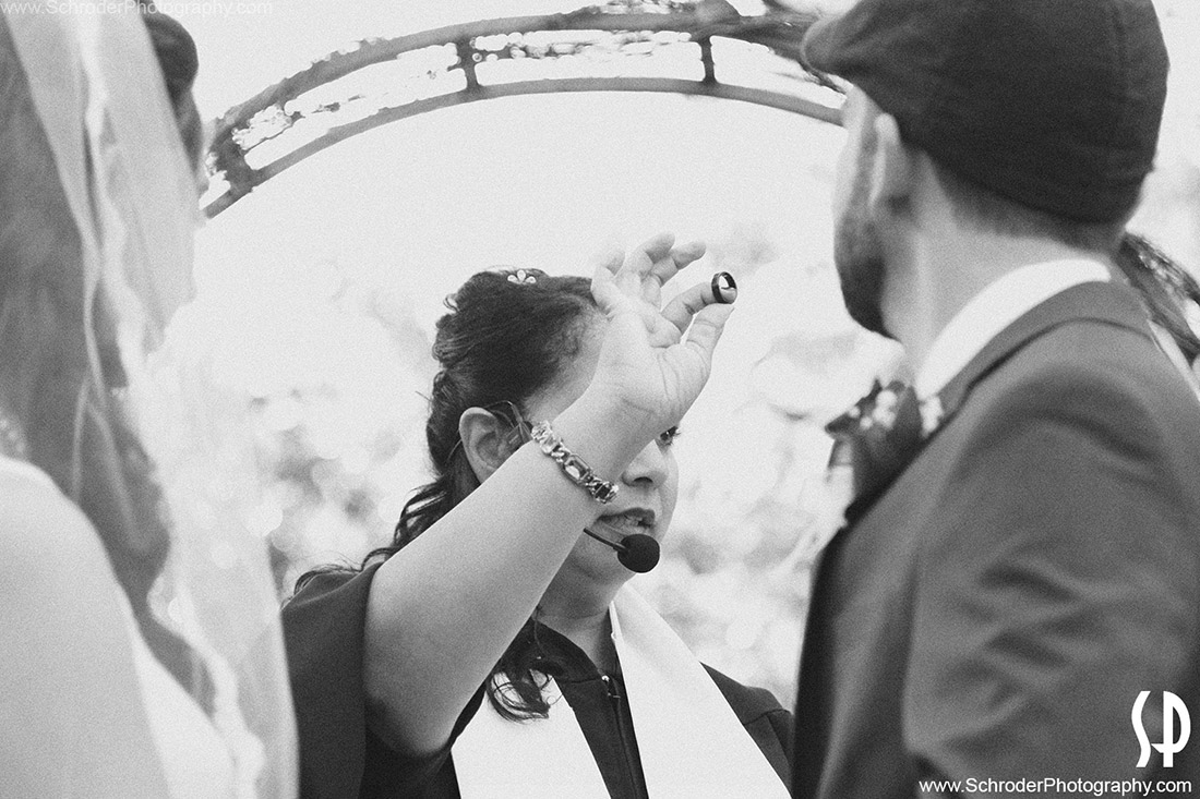 Ring exchange at wedding ceremony