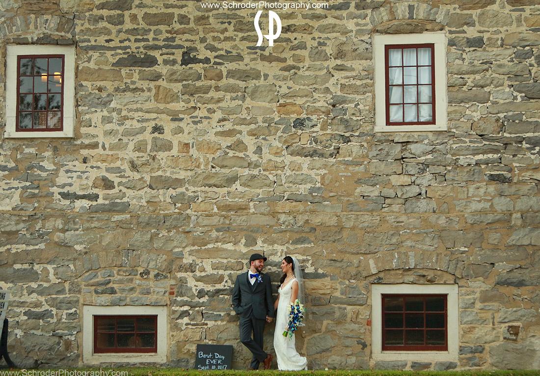 Wedding at Inn at Millrace pond