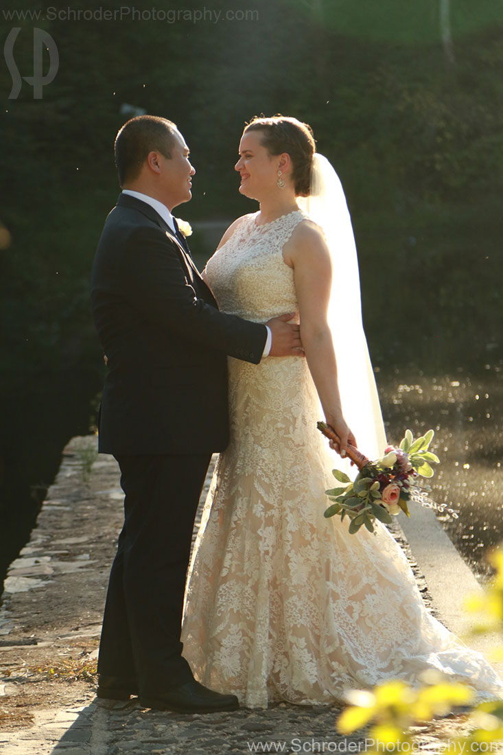 Newlyweds at Mountain Lakes House in Princeton