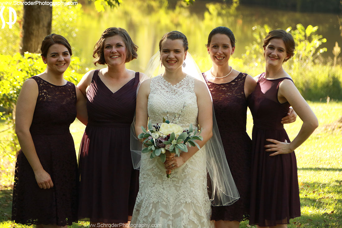 Emily and her Bridal party