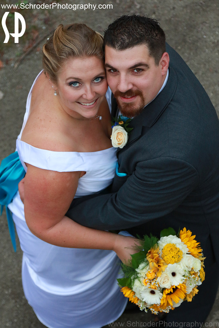 Sara and Tim on their wedding day at Sussex County Fairgrounds