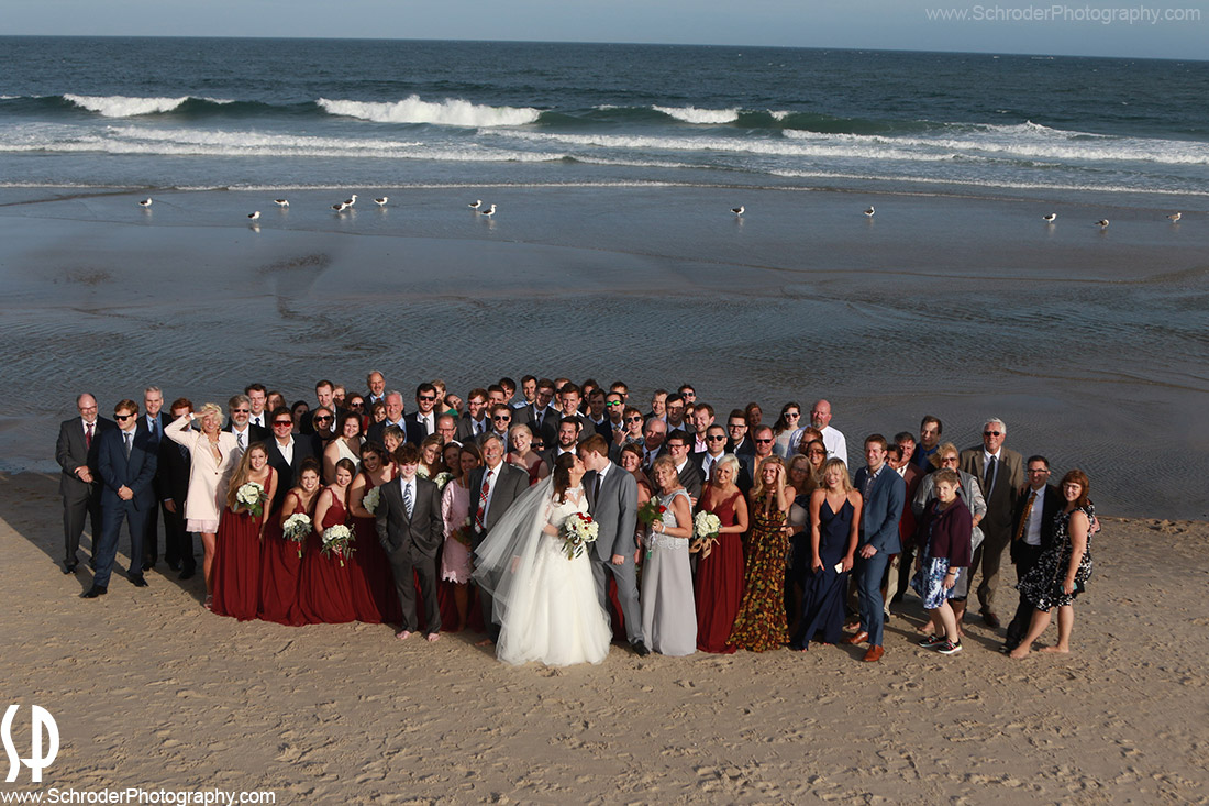 Wedding Photos on the beach. Schroder Photography