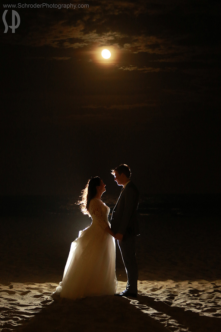 Moonrise at Avon by the Sea Wedding