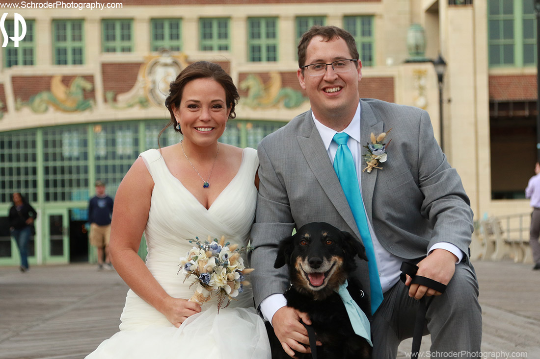The Bride, Groom and their Dog Oakley