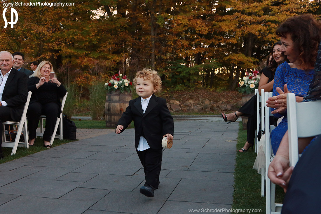 ... but first ... here comes the Ring Bearer with rings in hand ...