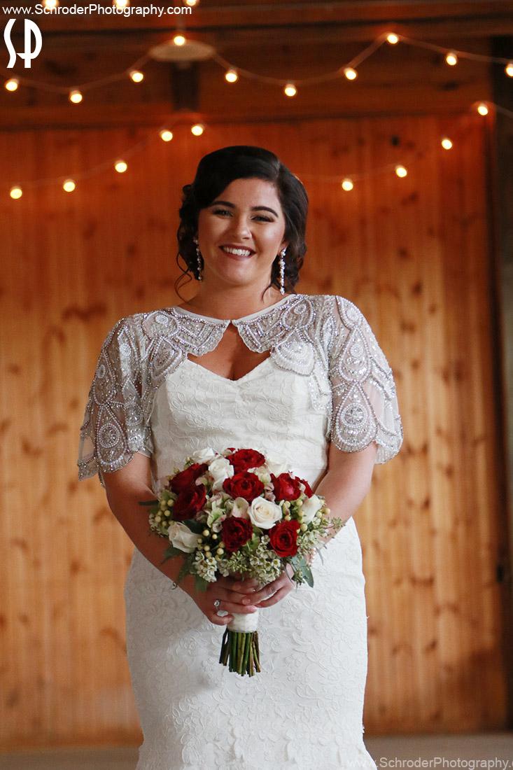 Liz just before the ceremony
