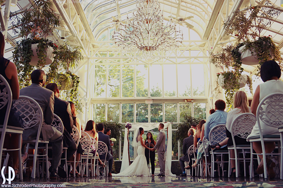 Ceremony at the Conservatory at the Madison Hotel in Morristown