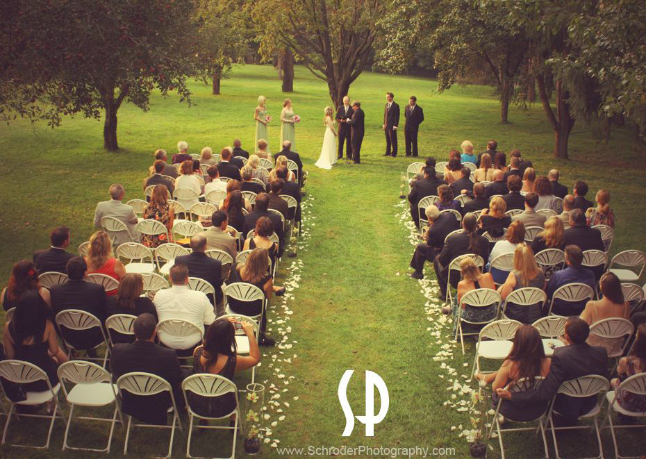 Ceremony at the Apple Orchard at Perona Farms