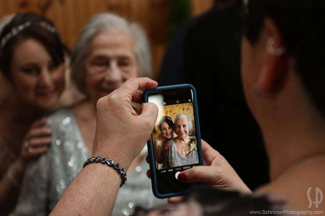 During the family photos someone took a cell phone pic..so I took a pic of them taking that pic!