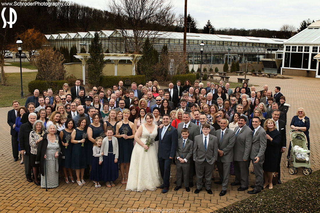 All the wedding guests in one photo