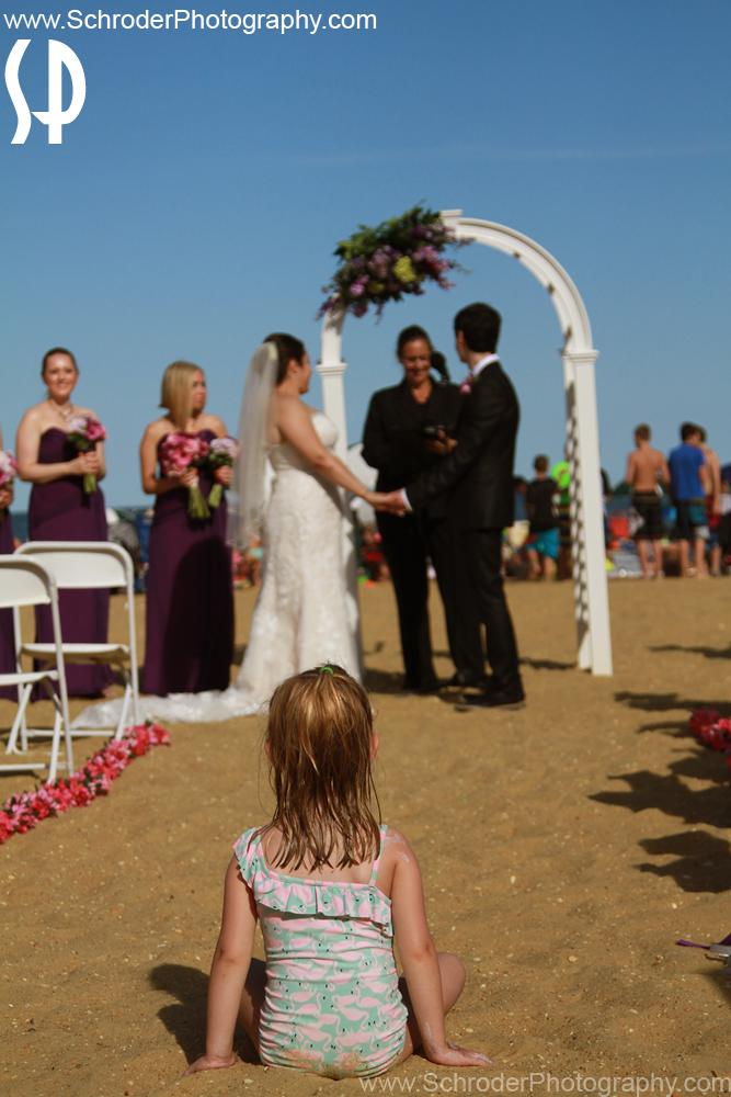 Wedding on beach at Long Branch NJ