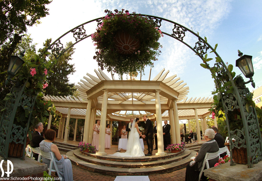 Outdoor ceremony at The Manor in West Orange