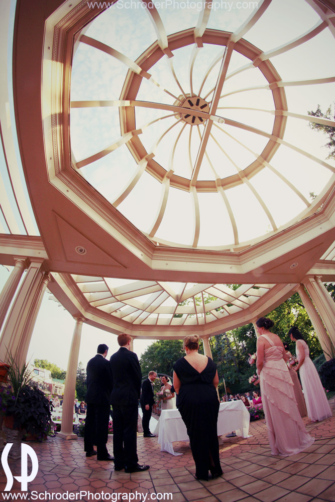 Another View of an outdoor ceremony at The Manor