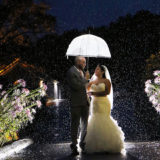 Making the best of rain at a wedding