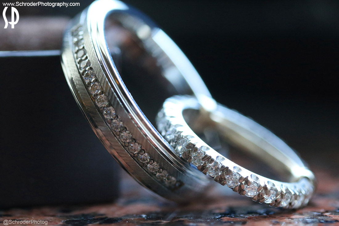 A Close UP of the wedding rings