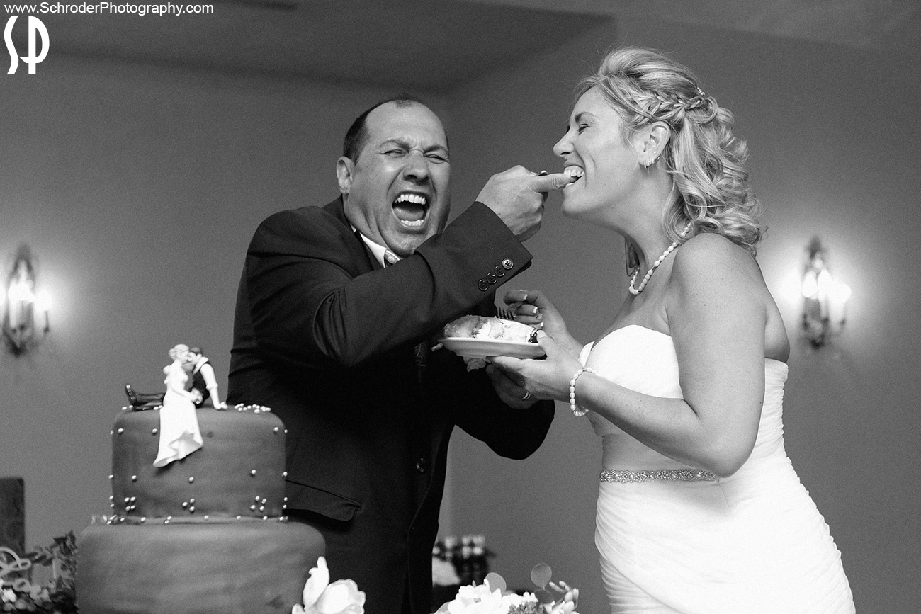 You never know what's going to happen during the cake cutting